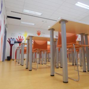 Allestimento artistico della aule formazione nel Nuovo Ospedale degli Infermi di Biella