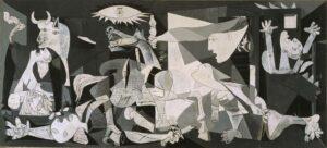 Il quadro Guernica, di Pablo Picasso, in apertura al primo numero della Nuoa Newsletter Scientifica, iniziativa della Struttura Semplice Formazione Sviluppo Risorse Umane dell'ASL BI in collaborazione con la Biblioteca Biomedica Biellese 3Bi